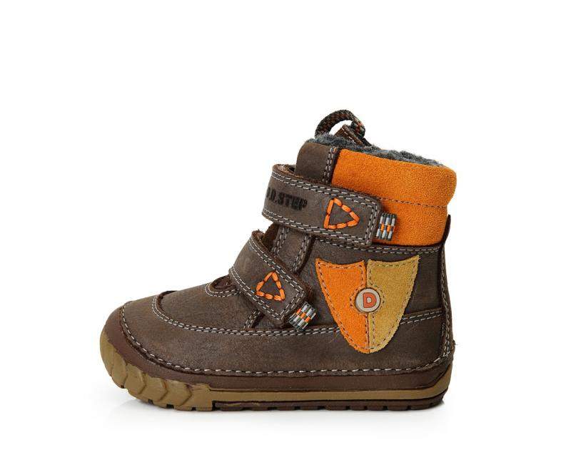 77fd3262390b D.D.Step hnedé mix vysoké kožušinové topánky pre chlapcov na suchý zips 19- 24