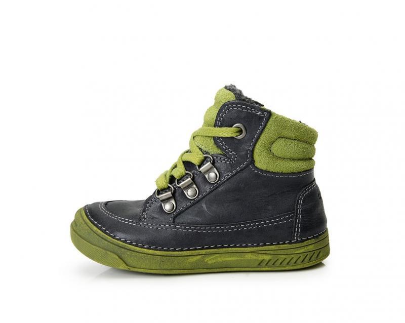 1742c0b9beb0 D.D.step modro zelené zimné vysoké detské topánky s kožusinou na suchý zips  25-30