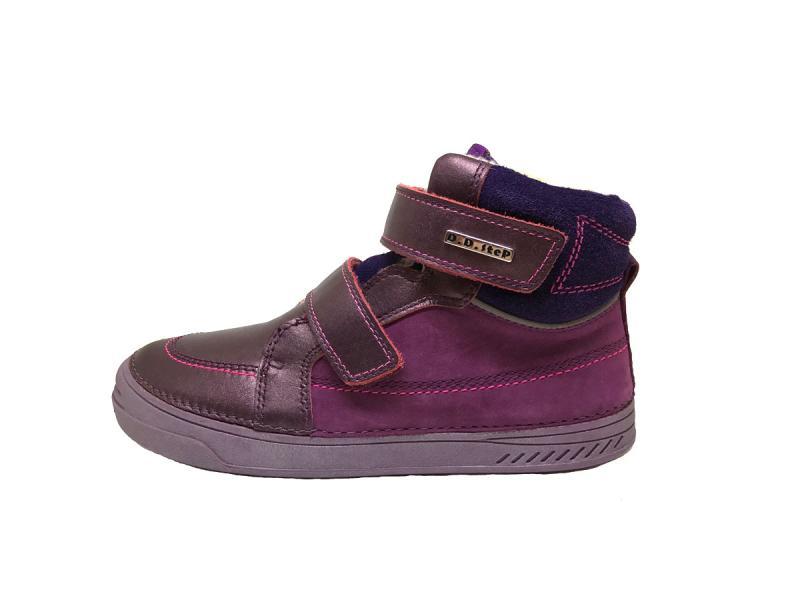 D.D.step zimné fialové mix detské topánky s kožušinkou na suchý zips 31-36  pre e0425e3fe9d
