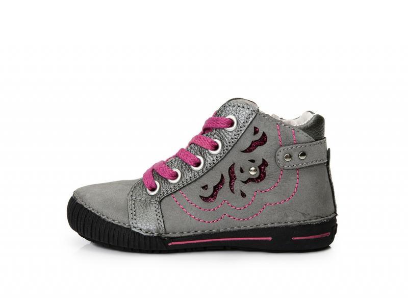 41d64fcb26de D.D.step sivo ružové šnurovacie-vysoké topánky so zipsom na boku 31-36
