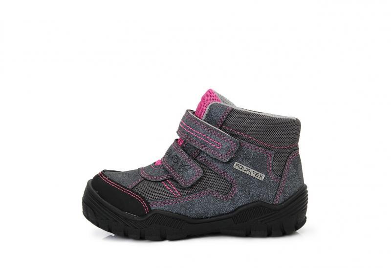 28419e5232ba D.D.step vysoké dievčenské detské topánky na suchý zips sivej farby 30-35