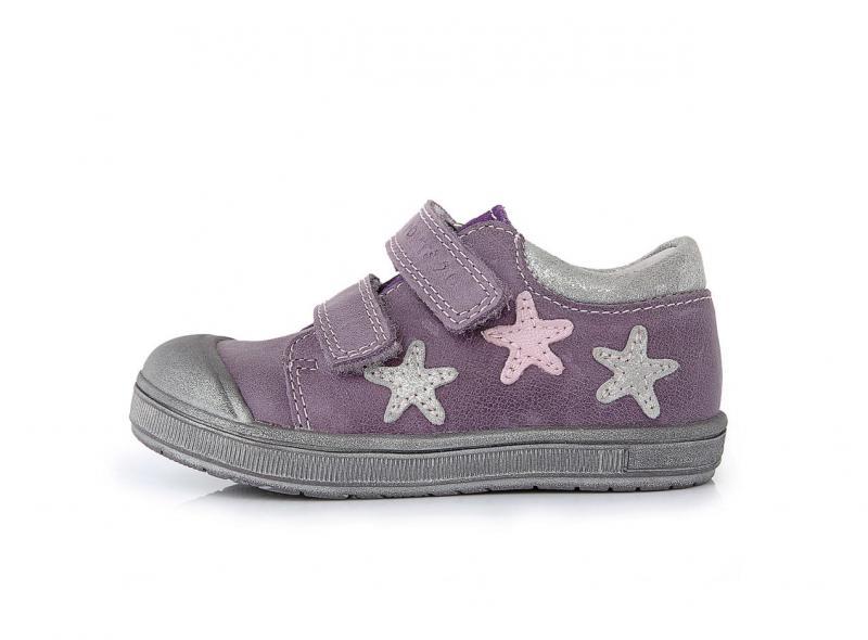 PONTE detské topánky na suchý zips pre dievčatá (so supináciou) fialovo  striebornej farby 22 c642d43cc95