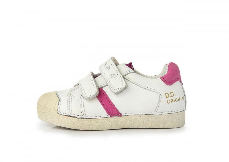 e97720fc1796 D.D.step biele dievčenské detské topánky na suchý zips 25-30