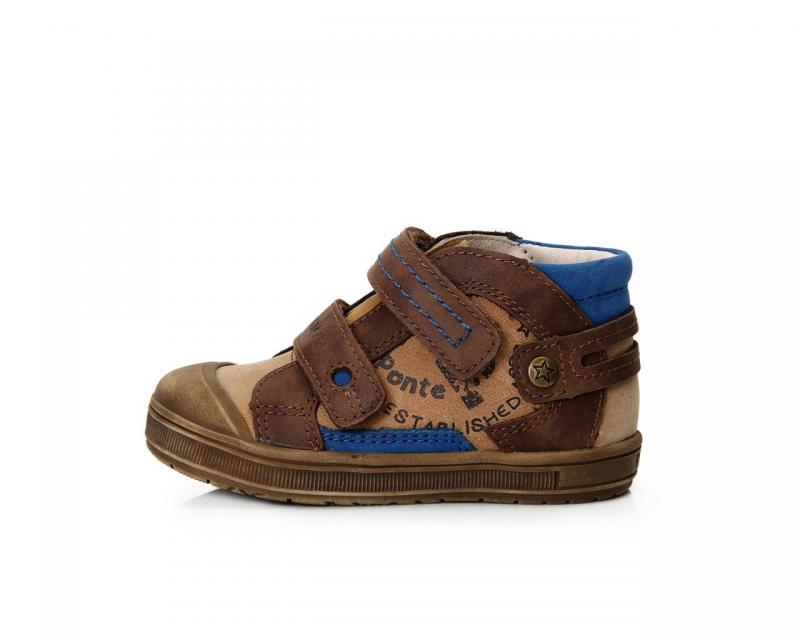 9df387a42 PONTE hnedé chlapčenské supinované detské topánky so suchým zipsom 22-27