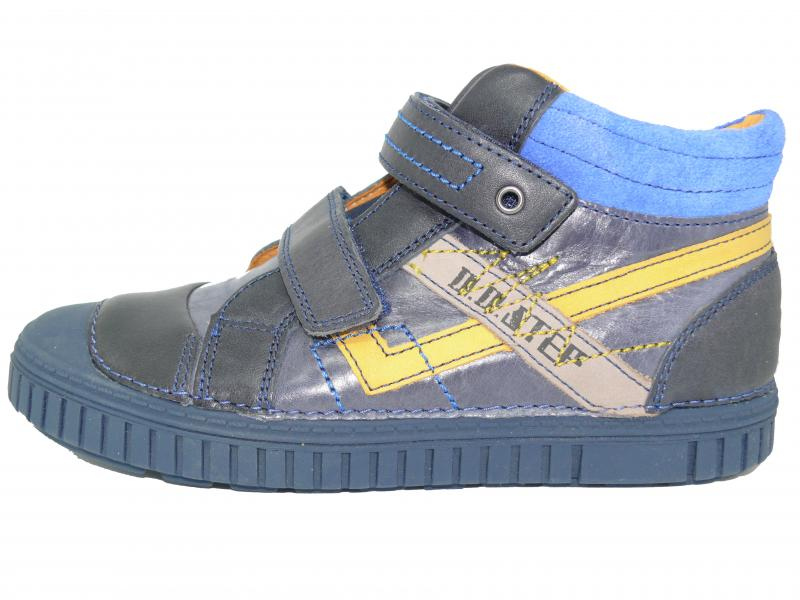 acf3a5d6db705 D.D.step detské modré členkové topánky na suchý zips 31-36 pre chlapcov