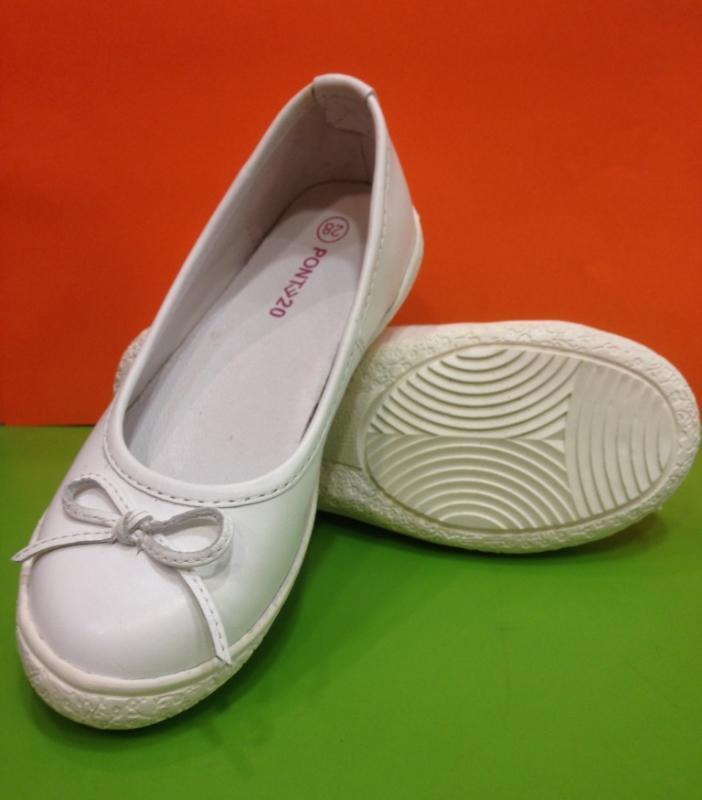 ... PONTE biele balerínky pre dievčatá 28-33 ... 10d453b4469