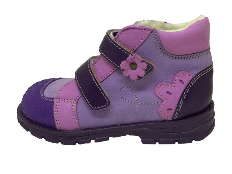 ce0efcdb3a2c Supykids DORA detská supinovaná obuv so suchým zipsom fialová mix s  kožušinkou 19-32
