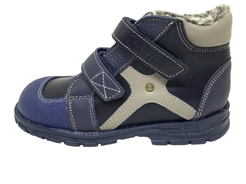 827060688 Supykids HUGO zimná detská obuv so suchým zipsom a kožusinkou tmavomodrá  19-32