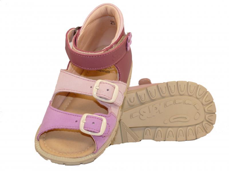 d906f6a1a916 ... Supykids SOMA detské sandále na suchý zips ružovo-fialové ...