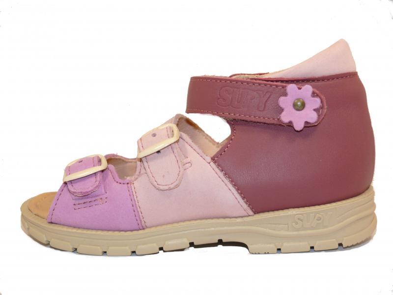 afced1a61f0c2 Supykids SOMA detské sandále na suchý zips ružovo-fialové ...