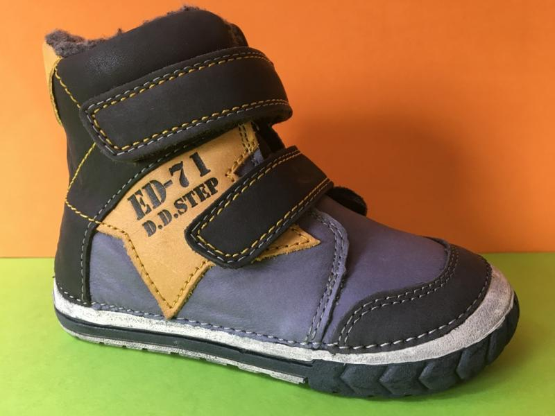 94c15246632e6 D.D.step modročierne zimné vysoké detské topánky s kožusinou na suchý zips  19-24 ...