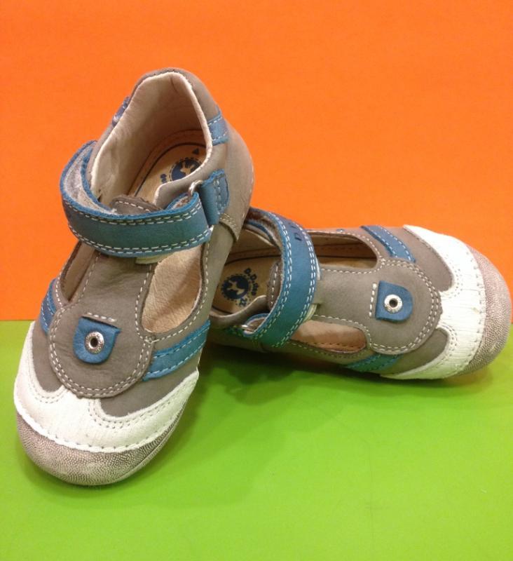 a25465aeab6bc ... D.D.STEP chlapčenské modrošedé detské topánky na suchý zips 19-24